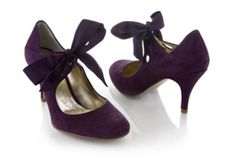 Purple shoes, mmmm....... these are like...perfect