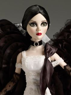Dark Angel - Spring 2012 Exclusive | Wilde Imagination A 2012 Tonner Convention Exclusive!   She's straight from the convention - a stunning Evangeline featuring the new hard plastic body! She has inset green eyes, applied lashes, and rooted raven hair. Debut Date:  2012 Tonner Convention - May 2012