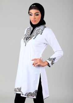 White Tunic, works much nicer with blue jeans