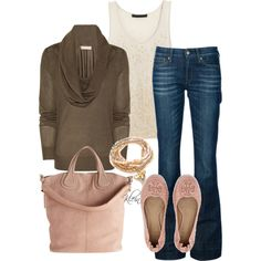 Fall Outfit: Brown and Pink
