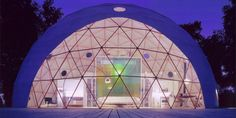 Inspo for Evie's dome home. This will be our geo dome mountain home.