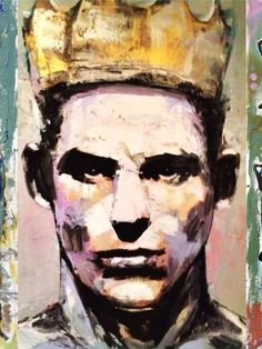 Male portrait, painting at the Cassandra Complex Gallery, Provincetown, Mass.