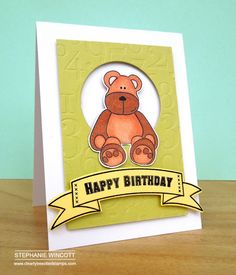 Welcome back, it's day 2 of June Release Teaser Time and I'd like to introduce you to Cute & Cuddly. Say hello to Leo Lion. Happy Birthday Stephanie, Leo Lion, Animal Cards, Kids Cards, Say Hello, Teaser, How To Introduce Yourself, Stamps, Banners