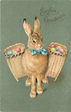 Vintage Easter postcard, printed in Germany.
