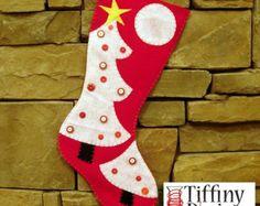 Christmas Stocking Pattern Christmas tree design PDF Sewing Pattern XL Extra large stocking PDF pattern - Almost 2 feet long