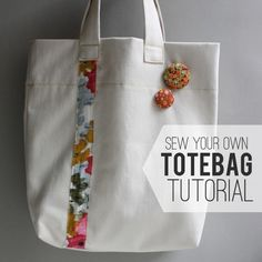 today i (finally) have a sewing tutorial for you, woo!  this sew your own tote bag tutorial is a pretty quick project  perfect for any lev...