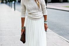 cables and pleats