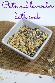 This oatmeal soak is