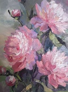 Alla Tikhonova I Designer I Gallery I The art of Oil painting, Graphics, Watercolor. Create sketches of costumes for theatre, cinema, show programs. Acrylic Painting Flowers, Oil Painting Flowers, Abstract Flowers, Acrylic Art, Watercolor Flowers, Painting & Drawing, Watercolor Paintings, Arte Floral, Art Abstrait