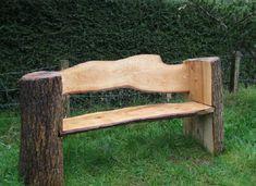 light DIY garden bench made of wood - Projekt 1 - Lila craft web Tree Stump Furniture, Log Furniture, Furniture Ideas, Modern Furniture, Western Furniture, Furniture Logo, Furniture Outlet, Furniture Stores, Cheap Furniture
