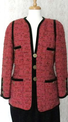 chanel authentic dress vintage | Authentic Vintage Coco Chanel Tweed Dress Jacket.