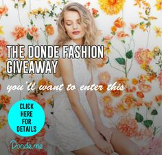 DONDE FASHION GIVEAWAY - Win an Item from your Wish list (Up to $100) Ends 5/13  http://couponsavvysarah.blogspot.com/2015/04/donde-fashion-giveaway-win-item-from.html