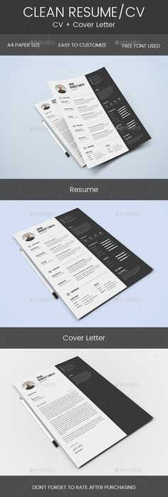 "Resume Clean Resume & Cover Letter by Mohsin_kabir Description: ""Hello and Thank You for purchasing my file. If you need any help using it pleasefeel free to contact me via my Graph"