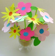 Idée cadeau fête des mères original - Bouquet de fleurs en papier