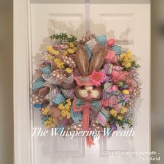 Bunny Wreath - Easter Wreath - Spring Wreath - Bunny Rabbit Wreath - Handmade Wreath by TheWhisperingWreath on Etsy