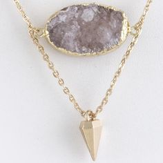 """$40 Beautiful purple druzy geode stone link chain necklace. Approx. 18"""" length Lobster claw clasp with 3"""" extender Lead/Nickel compliant Fashion Jewelry"""