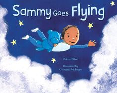 Always need more books representing black and mixed race boys, lovely picture book  Sammy Goes Flying  by Odette Elliott illustrated by Georgina McIntyre