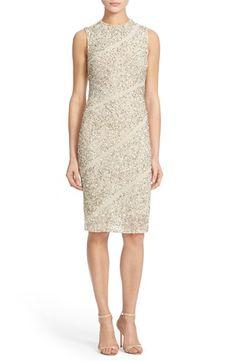 Alice + Olivia 'Sitara' Embellished Body-Con Sheath Dress available at #Nordstrom
