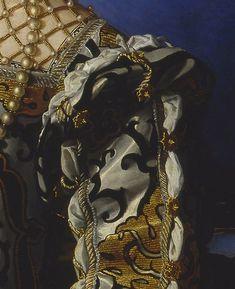 1544 through 1545 Eleonora di Toledo col figlio Giovanni (Galleria degli Uffizi - Firenze, Toscana Italy) slashed sleeve roll | Grand Ladies | gogm
