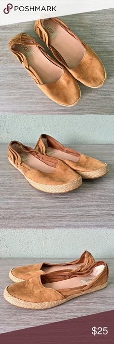 Like New! UGG Camel Suede Espadrille Flats Used once in like new condition. Adorable UGG camel colored suede espadrille flats. Super comfy and cute. True to size. Great summer shoe! UGG Shoes Flats & Loafers