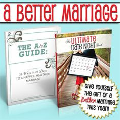 Need a mother's day gift idea (or just want something for yourself?)? The Ultimate Date Night Book and A to Z Guide to a Happier Marriage book are on sale this week only on SixSistersStuff.com. Almost 50% off!