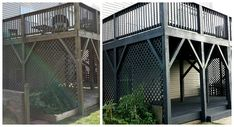 FOCAL POINT STYLING: Before & After: Black Slate Stain Deck & Repair