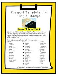 Passport Template   Education    Passport Template
