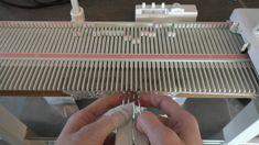 Manuell fletteteknikk / Manual cable knit - On any knitting machine