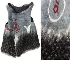Midi à 14 heure / Alice inspired nuno felted art vest with awesome glimmer effect S to M. €280,00, via Etsy.