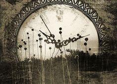 Tapeta Vintage - Clock 4583