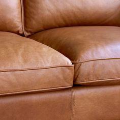 Hamilton Leather Sofa (206 cm) | west elm Australia Leather Lounge, Leather Sofa, Living Room Sofa, Living Room Decor, Living Spaces, Hamilton Sofa, Sofa Seats, Couch Sofa, Family Room Decorating