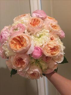 2007 Wedding - peach, pink, ivory bridal bouquet