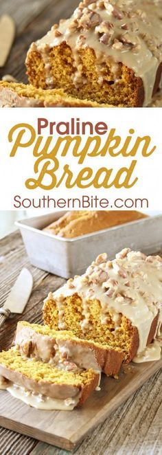 The Praline Sauce on this Praline Pumpkin Bread is what puts it over the top! The Praline Sauce on this Praline Pumpkin Bread is what puts it over the top! Pumpkin Recipes, Fall Recipes, Holiday Recipes, Holiday Foods, Top Recipes, Brownie Trifle, Quick Bread Recipes, Cooking Recipes, Muffins