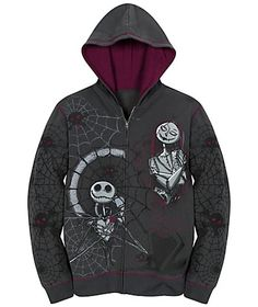 Tim Burton's The Nightmare Before Christmas Fleece Hoodie for Women