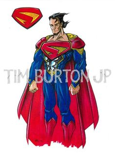 "Photo of Tim Burton's ""Superman Lives"" costume concept."