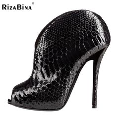 72.92$  Buy here - http://alivam.worldwells.pw/go.php?t=32697082020 - RizaBina Women High Heel Boots Ladies Open Peep Toe Ankle Summer Botas Dress Shoes Woman Brand Heeled Footwear Size 35-46 B230 72.92$