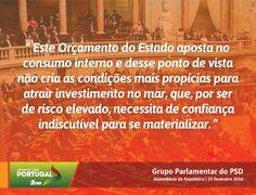 Palavras do Grupo Parlamentar do Partido Social Democrata no Debate do Orçamento do Estado para 2016 na Especialidade com a Ministra do Mar. #PSD #acimadetudoportugal