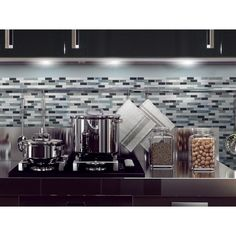 Muretto Brina Smart Tiles as a removeable backsplash. This is totally my style.