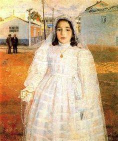 Realismo mágico.Carmencita de comunión. Antonio López García. 1960.  via: ArteSpain.com