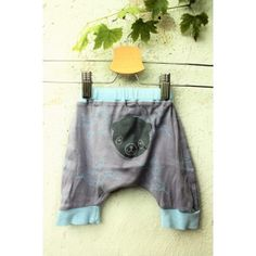 SÅ fine små bukser med enhjørninger og lille kat, upcyclet genbrug, str. 62