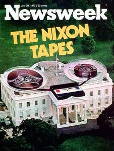 "The famous scandal of ""The Nixon Tapes"". The cover indicates about the revelation of that scandal and this scandal created so much hype that President Richard Nixon had to resign from the seat. This is the only case of its kind in US history. Us History, American History, American Presidents, History Timeline, History Class, Magazine Cover Design, Magazine Covers, Web Design, Graphic Design"
