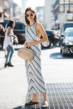 Amlul by Gala Gonzalez Gala Gonzalez, Daytime Dresses, Summer Essentials, Street Style Looks, Summer Looks, Going Out, Tory Burch, Fashion Show, Style Inspiration