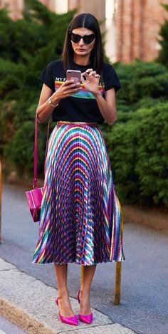 Milan Fashion Week 2017 September street style: Giovanna Battaglia