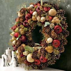 DIY-Embellished Pine Cone Wreath