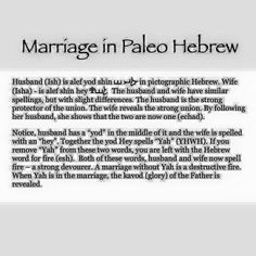 Marriage in Paleo Hebrew