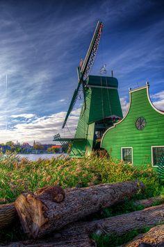 Zaanse Schans Windmill, Netherlands