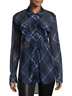 Rag & Bone - Mason Long-Sleeve Silk Patterned Shirt