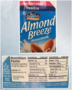 Almond milk Trans Fat, Saturated Fat, Serving Size, Almond Milk, Nutrition, Facts, Beef, Food, Meat