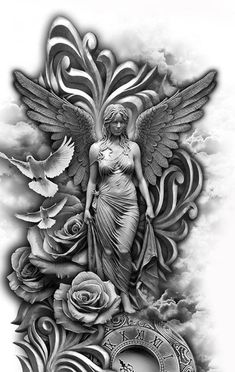 Rune Tattoo, Demon Tattoo, Angel Tattoo Men, Skull Tattoos, Body Art Tattoos, Music Tattoos, Foot Tattoos, Full Sleeve Tattoo Design, Forearm Tattoo Design