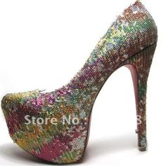 Aliexpress.com : Buy Ladies fashion seven colors small glitter red sole platform high heel shoes, shining party shoes from Reliable platform pumps suppliers on stylish brand goods US $58.00 / pair http://www.aliexpress.com/store/product/Ladies-fashion-seven-colors-small-glitter-red-sole-platform-high-heel-shoes-shining-party-shoes/212678_600071798.html#